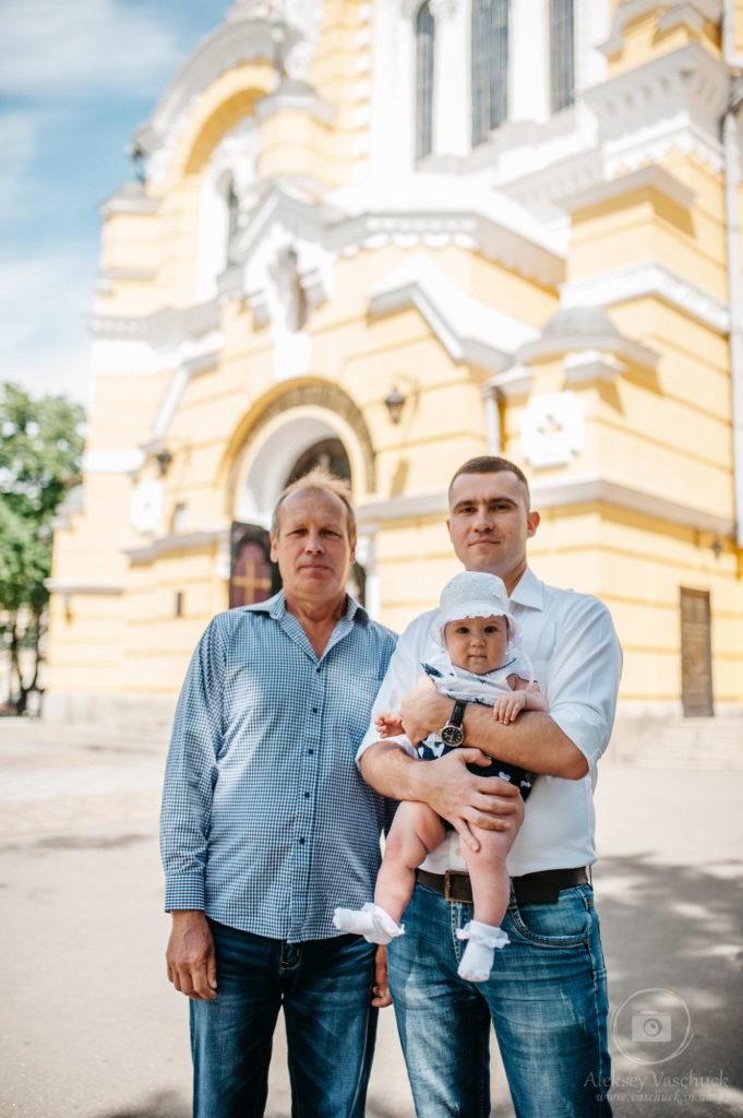 Съемка крестин во Владимирском соборе