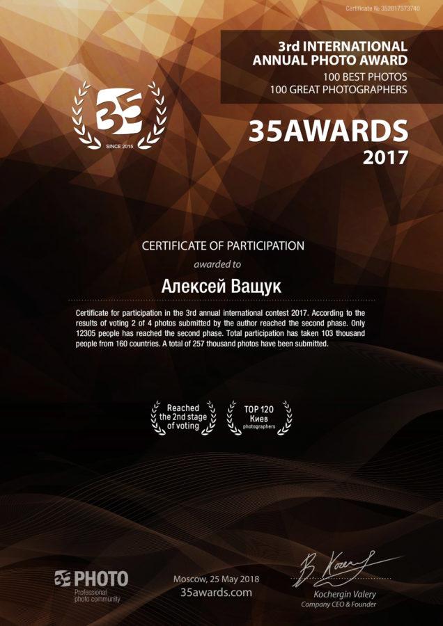 35awards2017 en - Мои награды