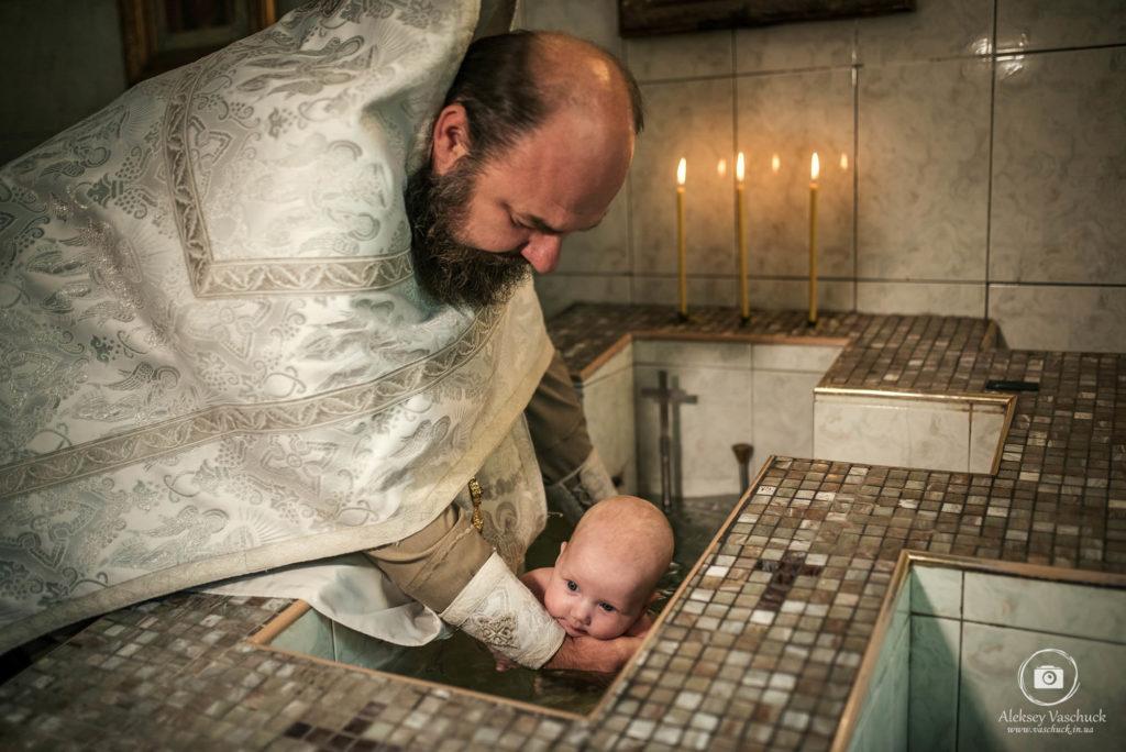 Крестины в Свято-Ильинской церкви РПЦ в Украины