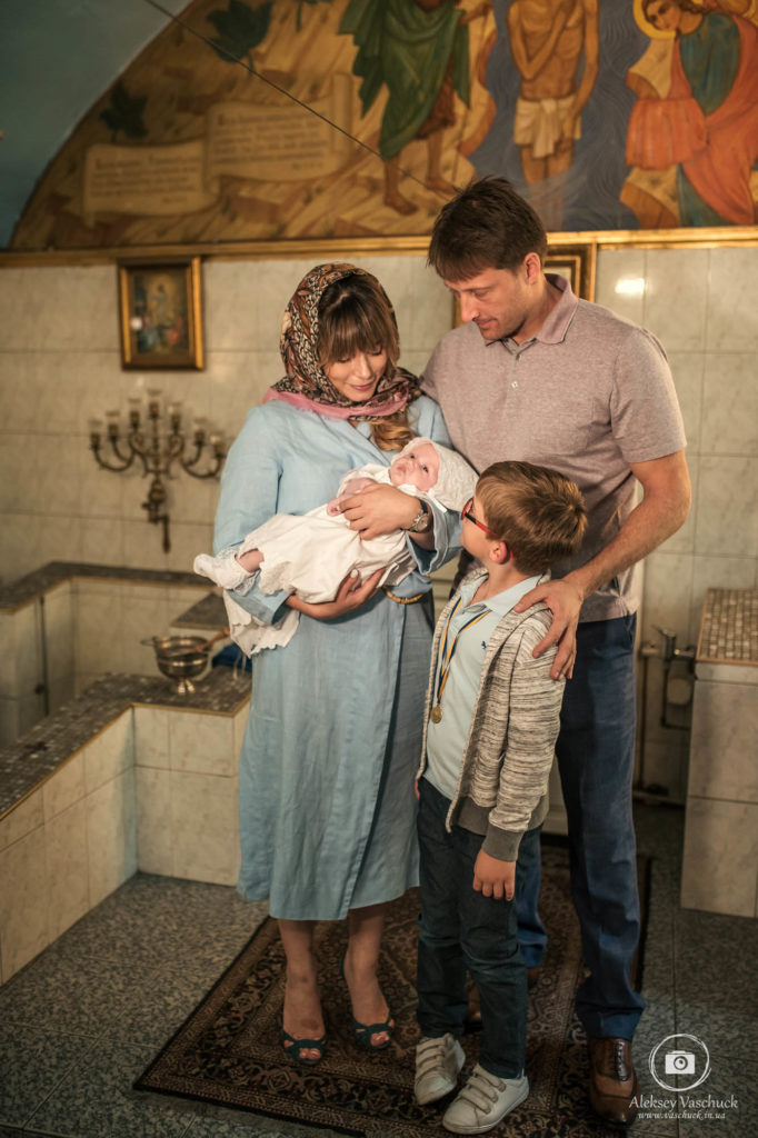 Christening in the St. Elias Church of the Russian Orthodox Church in Ukraine