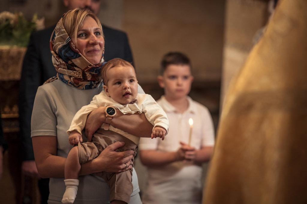 Фотосъемка крещения в Храме Адриана и Наталии УПЦ
